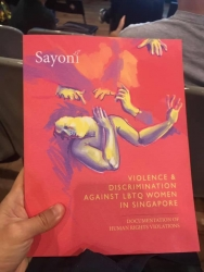 Sayoni releases first, groundbreaking report into violence and discrimination facing lesbian, bisexual, trans and queer (LBTQ) persons in Singapore