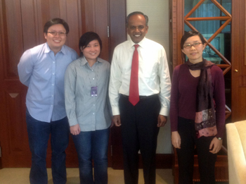 Meeting with K Shanmugam